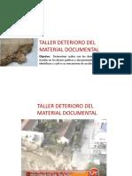 TALLER DE DETERIOROS