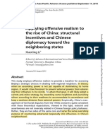 CHINA OFFENSIVE REALISM