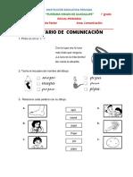 1° BALOTARIO DE  COMUNICACIÓN