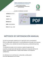 metodo de sintonizacion ziegler and nichols curva de reaccion
