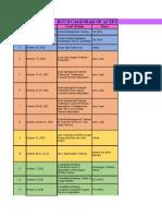 Calendar of Activities (October 2020)