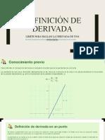 DEFINICIÓN DE DERIVADA