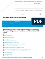 Maintenance & Service Guide_ HP Compaq 6005 Pro Business PC - Removal and Replacement Procedures Small Form Factor (SFF) Chassis _ HP® Customer Support