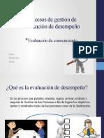 Procesos de gestión de evaluación de desempeño