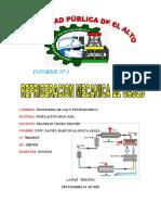 INFORME REFRIGERACION MECANICA DE GASES