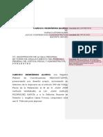 MODELO DE ESCRITO INICIAL DE JUICIO CONTENCIOSO ADMINISTRATIVO