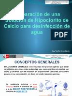 4-Preparación de Solución de Hipoclorito de Calcio