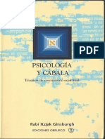 Psicología Y Cábala - Rabí Itzjak Ginsburgh