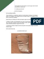 Reflexión  El vaso de agua y el estrés1