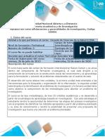 Syllabus del curso fundamentos y generalidades de investigación V2