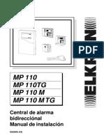 MP110 instalador central de alarma Manual de Instalación
