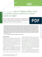 Human perception of fighting ability facial cues predict winners and losers in mixed martial arts fights Behavioral Ecology-2015-Little-1470-5(3).pdf