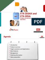 ETX_203AX and 205A_presentation