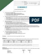 Quiz in ELEC 01 (Inventory Estimation)