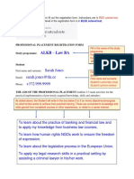 Example and Instructions for Annex 1 - Registration