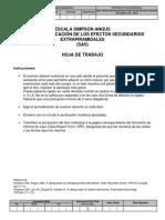 ESCALA PARA LA CLASIFICACION DE LOS EFECTOS EXTRAPIRAMIDALES SAS.