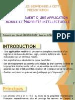Développement application et Propriété intellectuelle