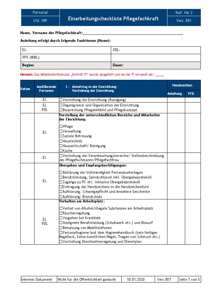 20   Einarbeitungscheckliste PFK PDF   PDF