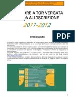 Guida all'Iscrizione a.a. 2011-2012 Università Tor Vergata