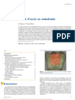 Cavité d'accès en endodontie
