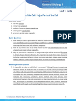 1.2 Components of the Cell Major parts of the Cell (Study Guide)