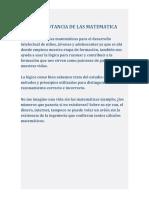IMPORTANCIA DE LAS MATEMÁTICAS.docx