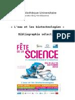 2013_bibliographie_eau_biotechnologies_BUEvry