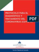 Protocolo para el Diagnostico y Tratamiento del Coronavirus (COVID-19) 10-9-2020, Versión Rapida