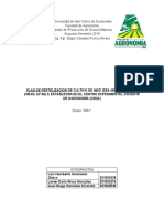 plan de fertilización de maiz