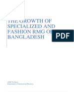 The Growth of Specialized and Fashion RMG of Bangladesh