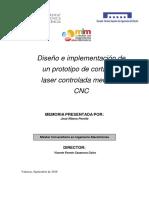 Ribera - Diseño e implementación de un prototipo de cortadora laser controlada mediante CNC