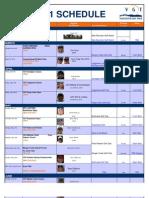 2011 Vgt Schedule
