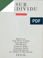Sur l'individu_ Contributions au colloque de Royaumont (1985) fr