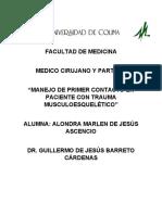 MANEJO DE PRIMER CONTACTO EN PACIENTE CON TRAUMA MUSCULOESQUELÉTICO.docx