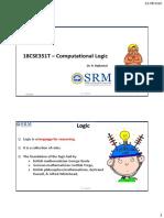 Computational Logic Pt 1
