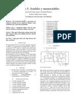 Informe practica 5 ; Astables y monoestables