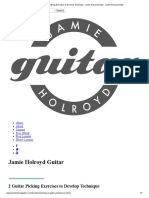 2 Guitar Picking Exercises to Develop Technique - Jamie Holroyd Guitar - Jamie Holroyd Guitar
