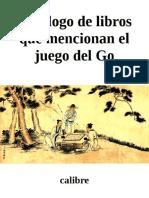 Catalogo de libros que mencionan el Juego del Go