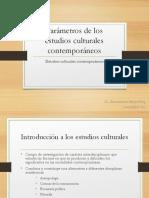 1. Parámetros de los estudios culturales contemporáneos