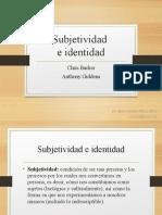 4. Subjetividad e identidad