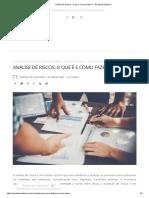 Análise de Riscos_ O que é e como fazer_ – Portal de Auditoria