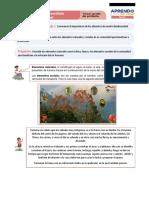 FICHA DE APRENDIZAJE PERSONAL SOCIAL  3° PRIMARIA - OCTUBRE 2020