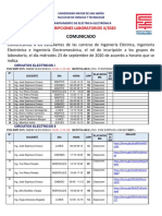 LABORATORIOS II-2020 ENLACES de CLASSROOM 2 2020