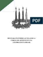 RITO PARA ENCENDER LAS VELAS DE LA CORONA DE ADVIENTO EN UNA CELEBRACION FAMILIAR - copia