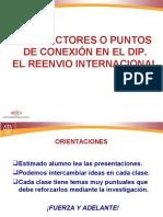 Derecho Internacional Privado, Puntos de Conexión y Reenvío