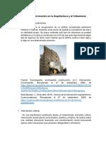 Niveles de intervención en la Arquitectura y el Urbanismo