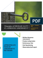 Appropriateness of Assessment Methods