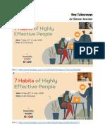 7 Habits Key Take Aways Engr. Elbenson Rescober
