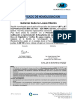 Certificado de Homologacion-gutierrez Gutierrez Jesus Hilarion