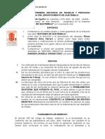 CONTESTACIÓN DE LA DEMANDA Despido Injustificado